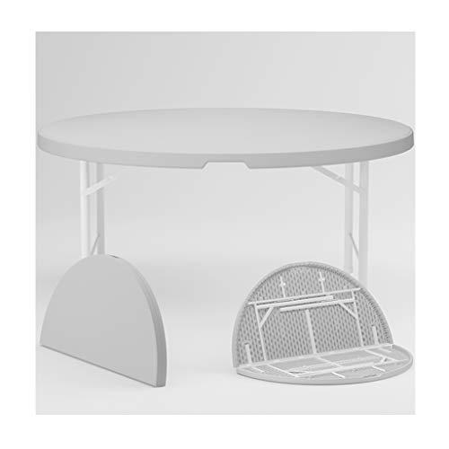 Mesa de Picnic Plegable de Plástico Portátil para Coche, Mesa Redonda para 6-12 Personas Que Pueden Soportar 600 Kg de Peso, Estructura Mecánica de Panal para Picnic, Camping, Viajes, Playa, Patio,