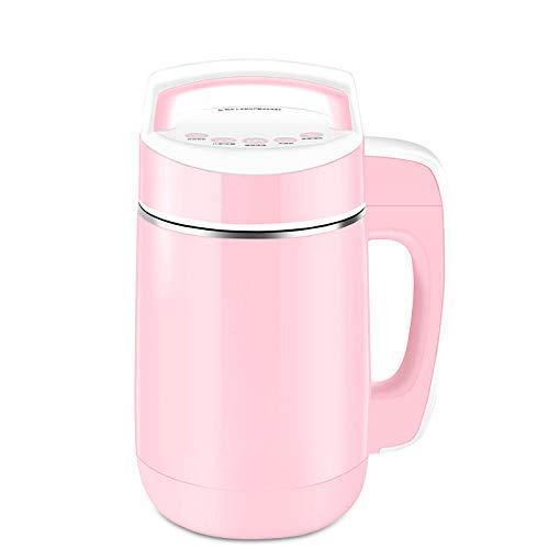 BGSFF Nueva máquina de Leche de Soja multifunción Princess Pink 850W de Potencia de calefacción, máquina de Leche de Soja húmeda y Seca con preservación del Calor Anti-escaldado