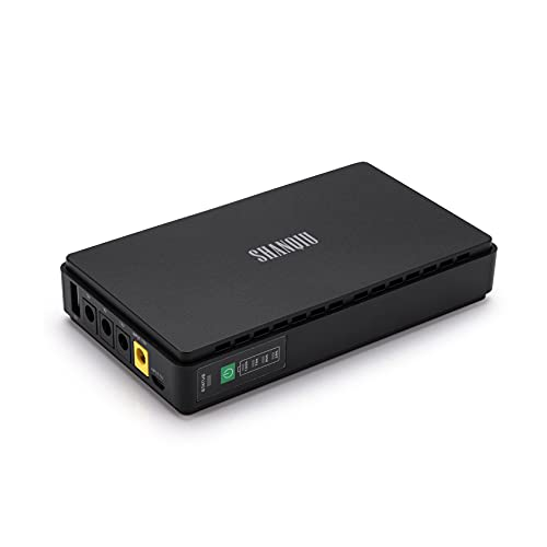 USV Mini UPS Unterbrechungsfreie Stromversorgung für WiFi, Router, Modem, Überwachungskamera mit Eingebaut Batterie 10000mAH Powerbank Eingang USB/DC Ausgang 5V USB 5V 9V 12V 2A DC