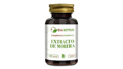 DIA BETTER - EXTRACTO DE MORERA 60 cápsulas de 375 mg AYUDA A MANTENER NIVEL DE GLUCOSA EN SANGRE SALUDABLE Y REDUCCIÓN DE LA GRASA CORPORAL, TRIGLICERIDOS Y COLESTEROL LDL!