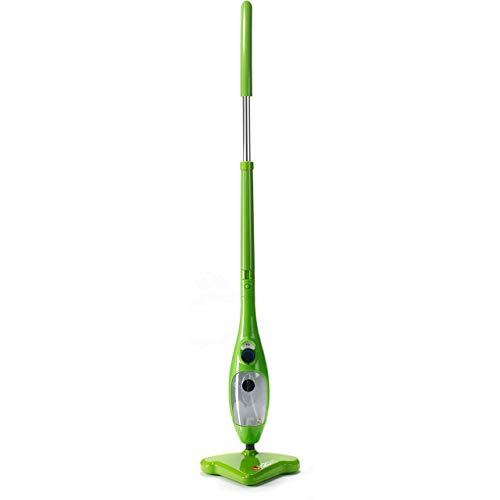 Thane H2O H20 X5 Steam Mop 5 en 1 Limpiadora a Vapor Fregona Mopa Portátil Multiuso Vaporeta Escoba Vertical y Mano para Limpiar Suelos Ventanas Alfombras Hornos Tapicería Ropa (Verde)