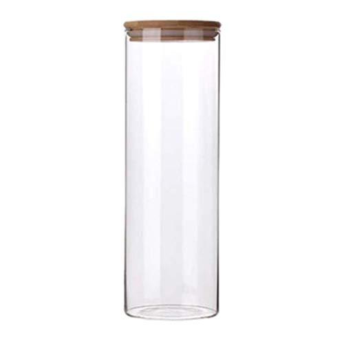 BESTonZON 2000Ml Gläser mit Bambusdeckel Silikonring Luftdichte Küche Lebensmittel Müslibehälter Zur Aufbewahrung Kanister Set für Marmelade Pasta Spaghetti Tee Kaffee Bohnen Keks Snack