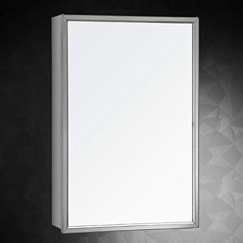 Qzny badkamer spiegel kast roestvrij staal muur gemonteerd badkamer spiegel met plank enkele deur organisator kast