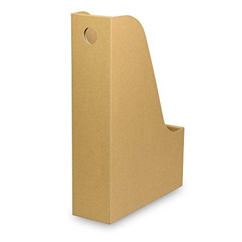 カラーボックス用ファイルボックス(No.2)【横置き用】【クラフト】 18枚セット (引き出し 収納ボックス 整理ボックス 書類 ダンボール 段ボール)