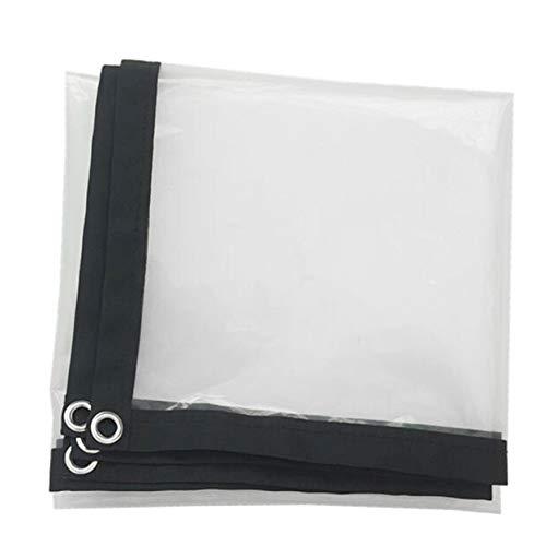 LLCXL transparant dekzeil waterdicht, transparant canvas met metalen oog afdekrooster design A twee sterke en duurzame draden