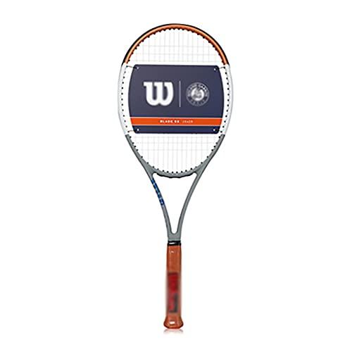 Raquetas De Tenis con Absorción De Impactos Tenis Profesional Tenis De Carbono Individual (Color : Orange, Size : 68.5cm)