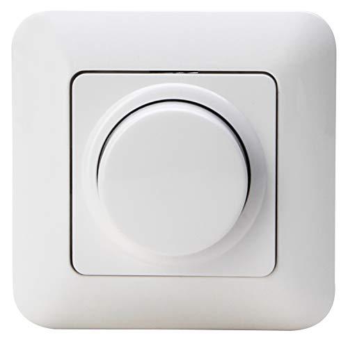 Kopp 844902012 LED Komplettgerät Dimmer, arktis-weiß, Druck-Wechsel