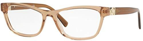 Versace 0VE3272 Monturas de gafas, Transparente Brown, 52 para Mujer