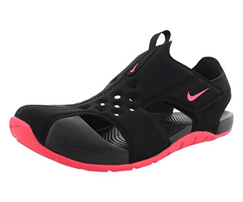 Nike Sunray Protect 2 (PS) Sport Sandal, Black/Racer Pink, 33.5 EU