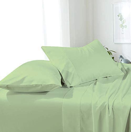 Sheets Set 4 Pieces Sheet Sets Soli Twin Bed OFFer Cheap bargain Sage 12