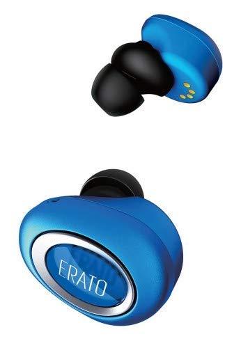 ERATO Muse 5 - kabellose Lifestyle Bluetooth Kopfhörer mit FitSeal & 3D Surround Sound - Blau