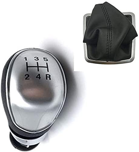 Pomos para Palanca De Coche, Cuero De La PU del Coche De La Cubierta De La Perilla del Cambio De Marcha del Freno De Mano Accesorios De Interior para Ford Focus 2 MK2 FL MK3 MK4 MK7