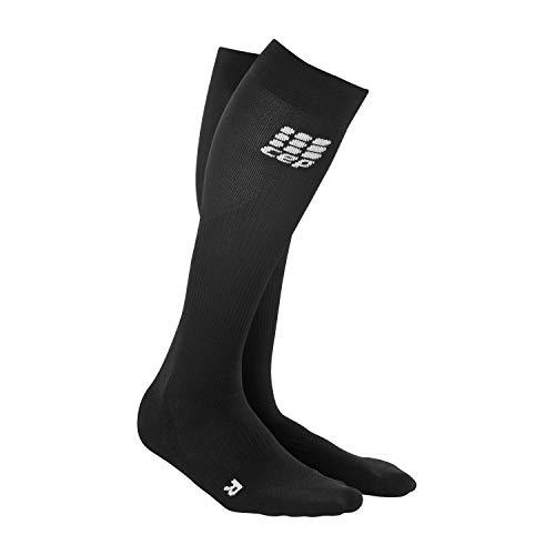 CEP – COMPRESSION SOCKS für Herren   Knielange Sportsocken mit Kompression in schwarz   Größe V