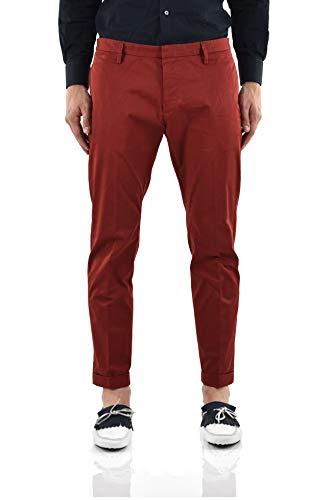 Dsquared2 Broek Rood met Doek Tag Mannen - Maat: 50 - Kleur: Rood - Nieuw