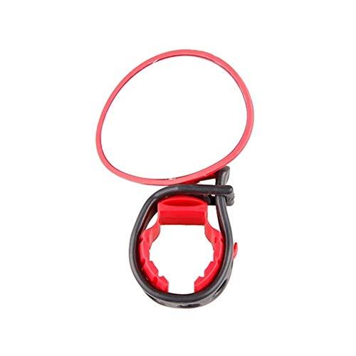 NOLOGO Yg-ct Fahrradanhänger Elektro-Fahrrad Rückansicht Silikon Griff Rückspiegel Scooter Rück Lenker Spiegel 360-Grad-Rotation (Farbe : Rot)