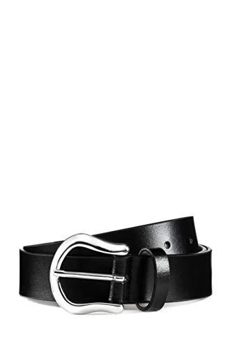 HUGO Damen Gürtel Kim Belt 3 Cm, Schwarz (Black1), 100