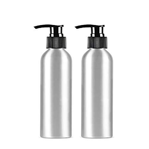 bubussv (4 Stück) 500ml Leer Silber Reisen Pumpflaschen Lotionsflaschen Tragbare Augencreme Lotion Essenz Flasche Drücken Nachfüllbare Reisebehälter
