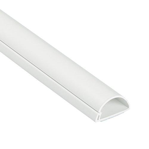 D-Line 1M3015W Mini Kabelkanal zur Kabelführung | Kabelleiste - 30x15 mm, 1 m Länge - Weiß