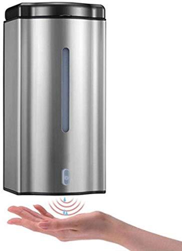 GOPG Automatischer Seifenspender, Wandmontage Edelstahl Touchless Infrarot Sensor Lotion Shampoo Spender Geeignet für Wohnzimmer Badezimmer Küche Büro-600ml