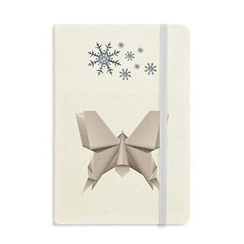 Origami Geométrico Abstracto Patrón Mariposa Cuaderno Grueso Diario Copos De Nieve Invierno