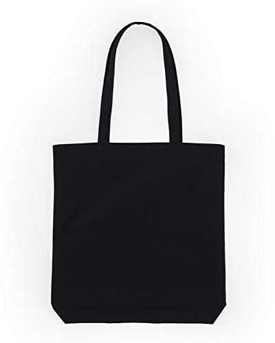 BAGGU Merch Tote, Simple and Easy Canvas Tote Bag, Black