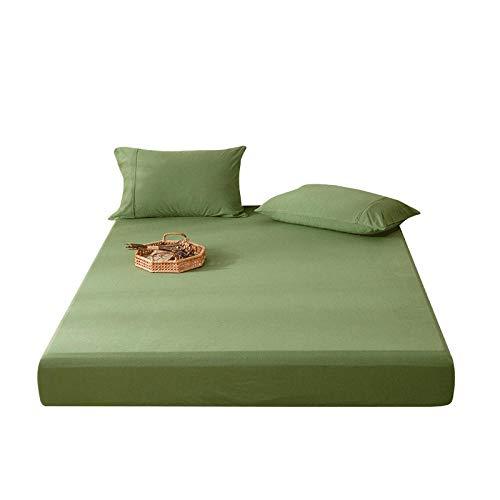 GmanXier Sábana de algodón Protector de colchón de Cuatro Estaciones Funda Antideslizante Colcha de Hotel sábanas Ajustables Individuales y Dobles Regalo-XEl 120 * 200cm + 23cm