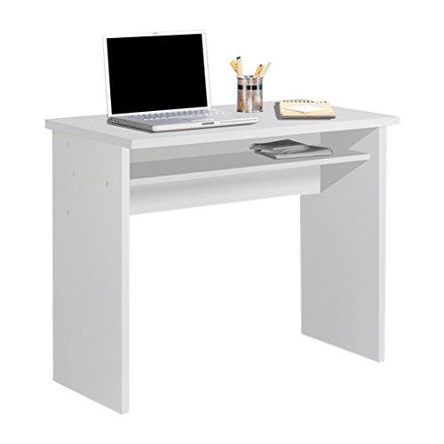 HOGAR24 - Mesa Escritorio, Mesa Estudio con Bandeja Color Blanco. Medidas: 90 x 74 x 50 Fondo