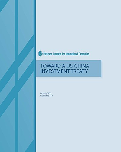 Couverture du livre Toward a US-China Investment Treaty (English Edition)