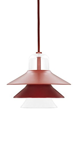 Normann Copenhagen Ikono plafondlamp, glas, rood, 17 x 20 cm