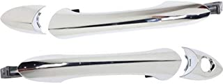 Exterior Door Handles Set of 2 Front Left and Right Side Plastic Chrome for Hyundai Sonata