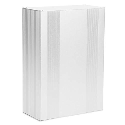 Caja de aluminio para proyectores, carcasa electrónica, color plateado mate, fácil de montar para caja de aluminio PCB Junction.
