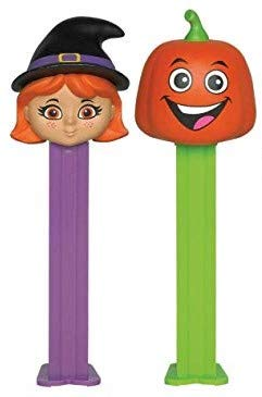 PEZ Candy Dispensers: Halloween Candy and Dispenser Set: Witch and Pumpkin