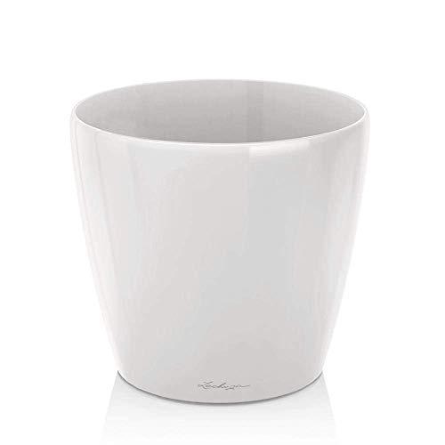 Lechuza 1450060cm Classico Premium Blumentopf, Hochglanz Weiß