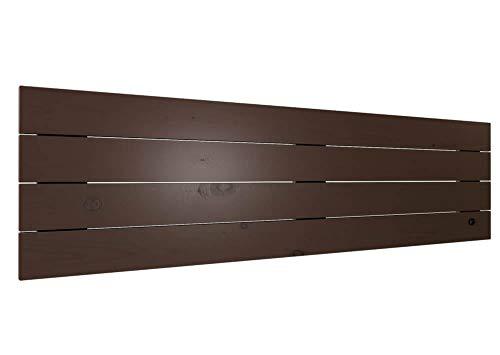 LA WEB DEL COLCHON - Cabecero de Madera Rústico Vintage para Cama de 150 (160 x 44 cms.) Barnizado Nogal | Cabeceros Madera | Dormitorio Matrimonio | Cabezal Cama |Estilo nórdico