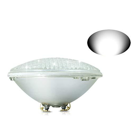 COOLWEST 18W Luz LED blanca para piscina PAR56 12V DC / AC, Iluminación subacuática IP68 impermeable, Reemplazo de bombillas halógenas de 150W