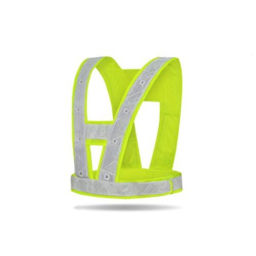 ZNZN La construcción reflexiva Traje, Amarillo Reflectante de Alta Visibilidad de Seguridad Chaleco de Trabajo Ropa for Correr o Ropa de Ciclo Chalecos de Seguridad (Color : Battery Style)