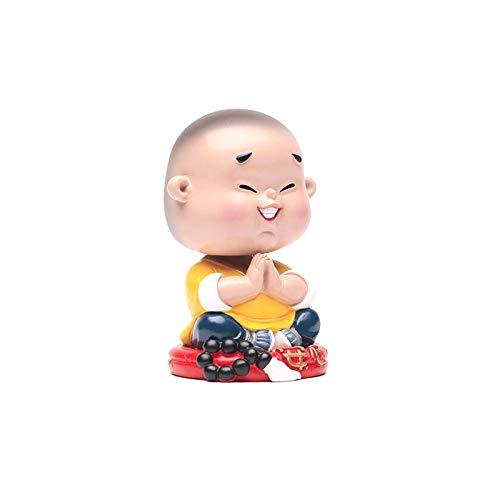 ZSRLX Auto Dekorationen Kopfschütteln Puppen In-Auto-Puppen Autozubehör Zubehör Swinging Buddha Vibrato Der gleiche süße Coole kleine Mönch