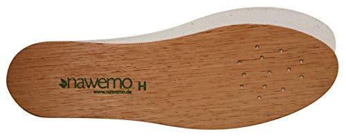 Nawemo Zedernholzsohlen Herren, antibakterielle Zedernholz Einlegesohlen gegen Schweißfüße, Fußgeruch, Fußpilz und Nagelpilz, dünne Einlegesohlen braun, Größe 40EU