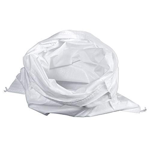 HaGa® Saco de tela 55 x 135 cm – 1 unidad bolsa de carga pesada PP saco de cereales blanco
