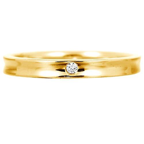 [ココカル]cococaru 一粒 ダイヤモンド リング k10 イエローゴールド/ホワイトゴールド/ピンクゴールド 品質保証書 金属アレルギー 日本製(ホワイトゴールド 3)