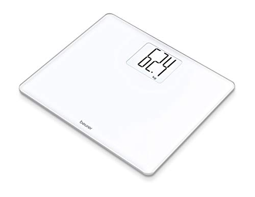 Beurer GS 340 XXL Digital Glass Bathroom Scales with Extra Large Numbers and Illuminated Display with Tare Function and 200 kg Load Capacity