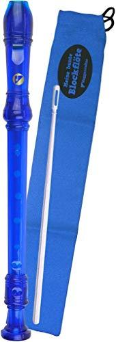 Voggenreiter Voggy \'s Kunststoff Blockflöte Set in DEUTSCHE Style, Blau
