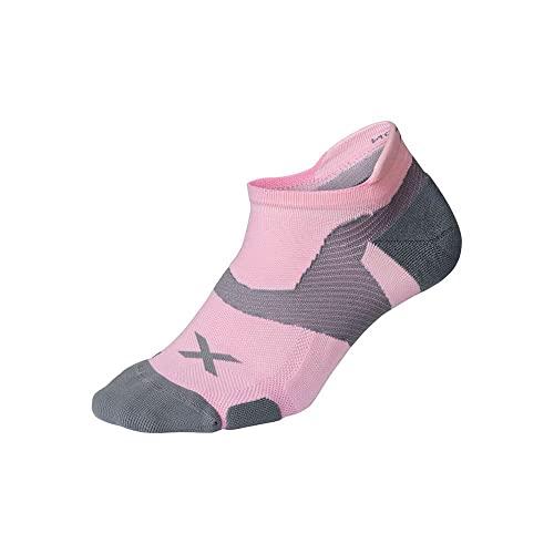 2XU Unisex Vectr Cushion No Show Socken Dusty Pink/Grau XL