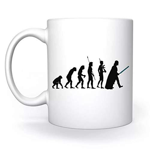 los Oscuro Lado De Evolución Blanco Taza White Mug Cup