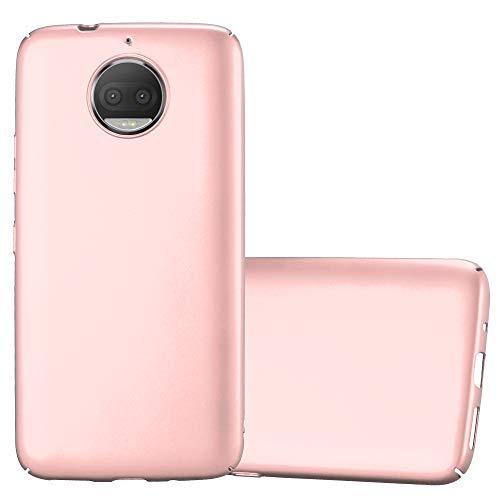 Cadorabo Funda para Motorola Moto G5S Plus en Metal Oro Rosa - Cubierta Protección de Plástico Duro Super Delgada e Inflexible con Antichoque - Case Cover Carcasa Protectora Ligera
