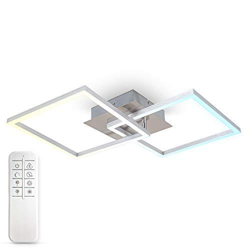 B.K.Licht I 27 Watt LED Frame I CCT Farbtemperatursteuerung I dimmbar I schwenkbar I Timer I Nachtlicht I Fernbedienung I Memoryfunktion
