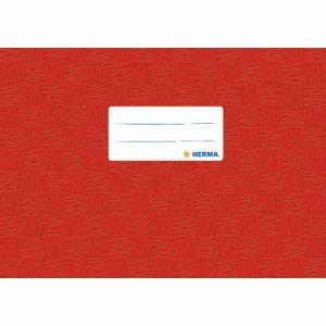 HERMA 25 x Heftschoner A5 quer PP rot gedeckt