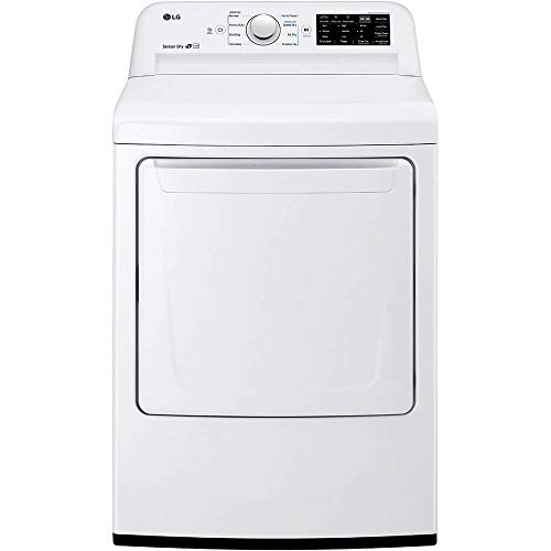 LG DLE7100W 7.3 Cu. Ft. White Electric Dryer with Sensor Dry