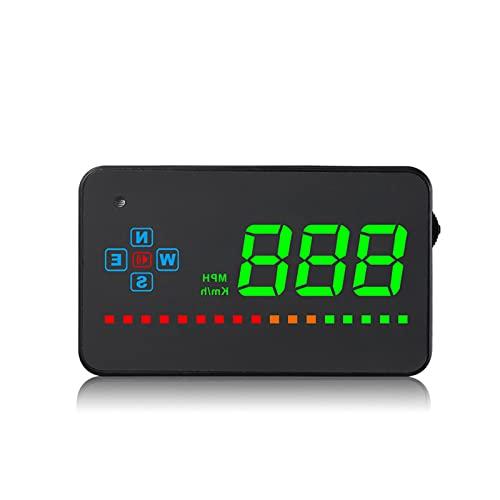 Pantalla UP DISPLAZA HUD Digital GPS SPEETETER PEQUEÑO PROYECTOR mph Velocidad Alerta DE Voltaje Distancia de la Alarma Dirección de la Distancia para Todos los Coches Camiones