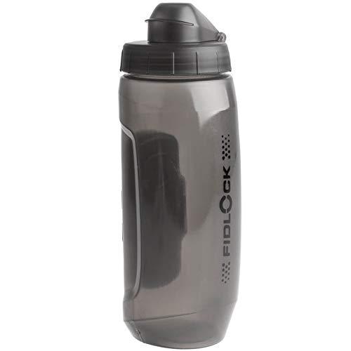 Fidlock Twist Bottle 590 ml BPA-freie Trinkflasche mit Magnetaufnahme für Twist-Bases, Grau Transparent